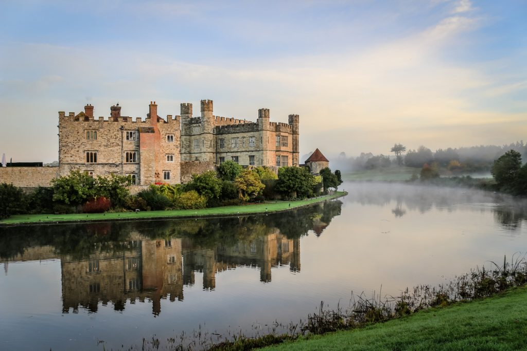 Leeds Castle, Kent on a Misty Summer Morning