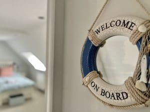 Welcome on board sign